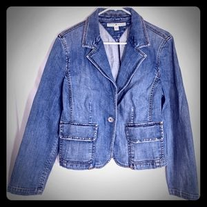 Retro Tommy Hilfiger Ladies Denim Jacket Size XL